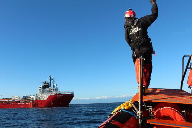 Lors des entraînements aux opérations de sauvetage. © NB