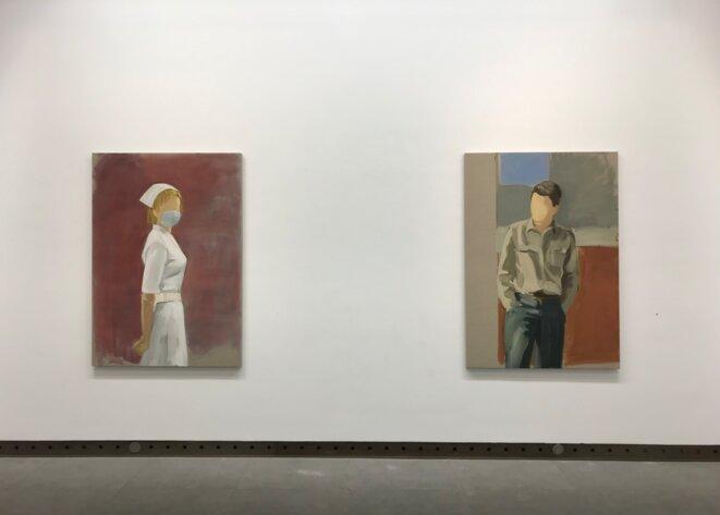 "Vue de l'exposition personnelle de Gideon Rubin ""A stranger's hand"", galerie Karsten Greve, Paris, 16 octobre 2020 - 16 janvier 2021 © Gideon Rubin; photo :  Guillaume Lasserre"