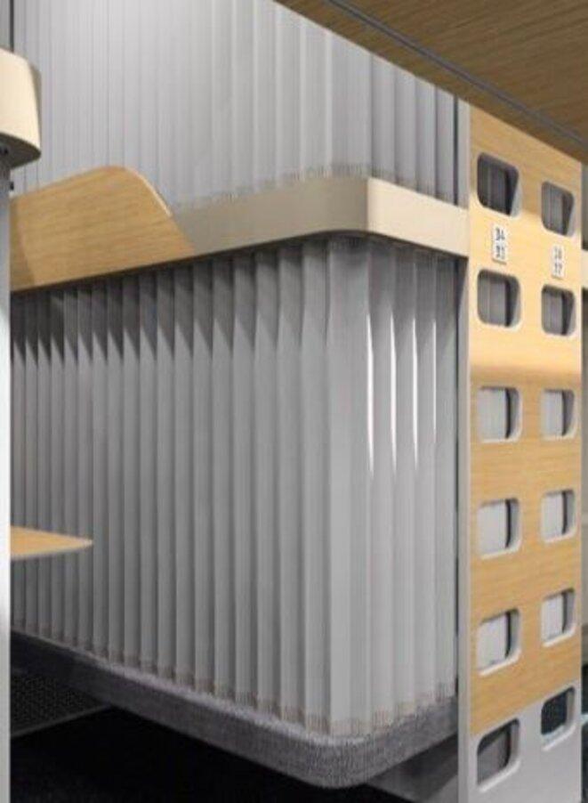 Les futures couchettes RZD en classe économique seront équipée de rideaux pour plus d'intimitée © RZD