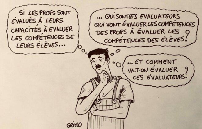 dessin 4 : évaluations © Frédéric Grimaud
