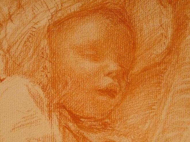 DANTAN Edouard,1892 - Pierre dormant dans sa Voiture (drawing, dessin, disegno) - Detail 3 © L'art au présent