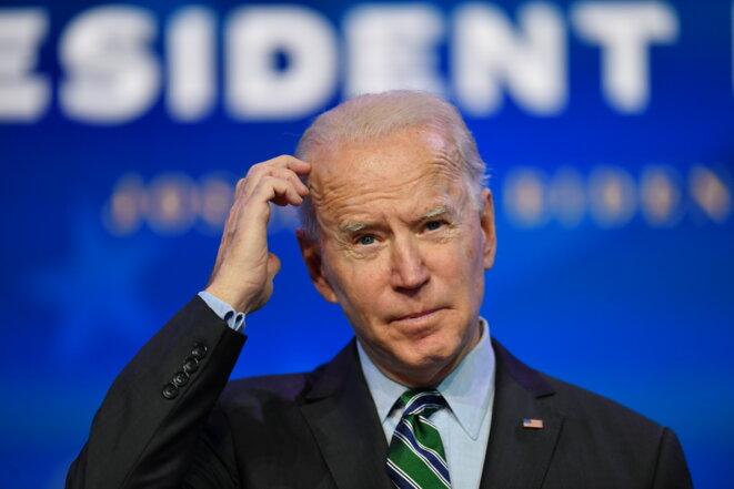 Joe Biden le 16 janvier 2021 à Wilmington, dans le Delaware. © Angela Weiss/AFP