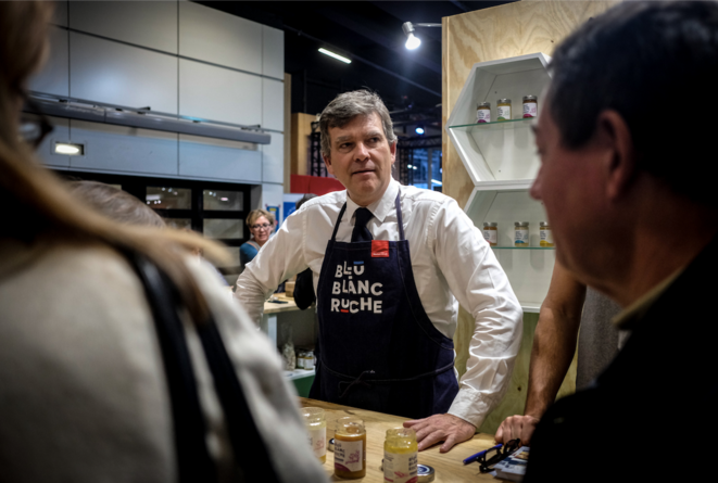 Montebourg au Salon du Made in France à Paris le 9 novembre 2019. © Elko Hirsch /Hans Lucas/AFP