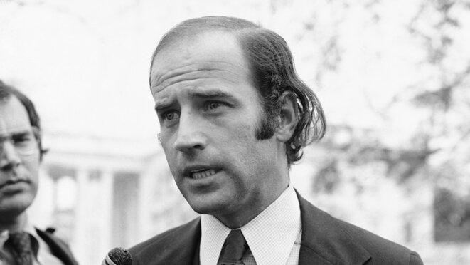 Joe Biden jeune sénateur © Henry Griffin