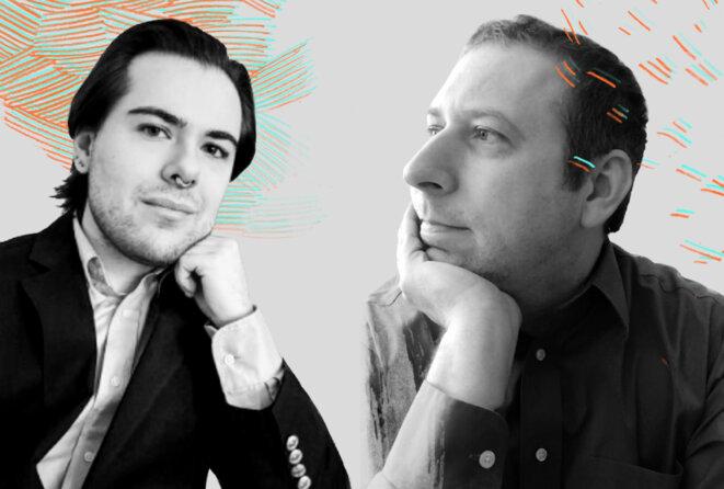 Portraits de Reid Caplan et John Strang - Égalité d'accès : Reid Caplan et John Strang ont pour objectif d'améliorer les soins de santé pour les personnes neurodivers et de genre divergent. © Photographies de Jessica Chou