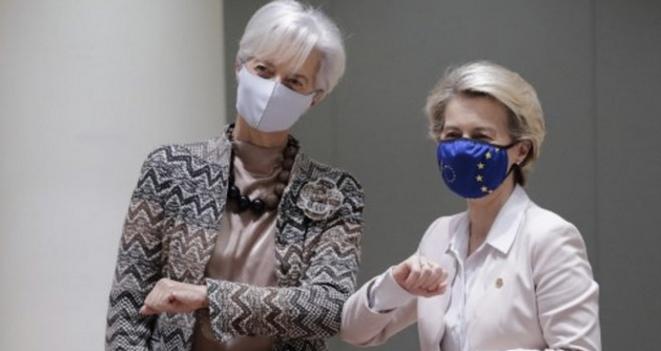 Christine Lagarde et Ursula Von der Leyen. © Olivier HOSLET / AFP