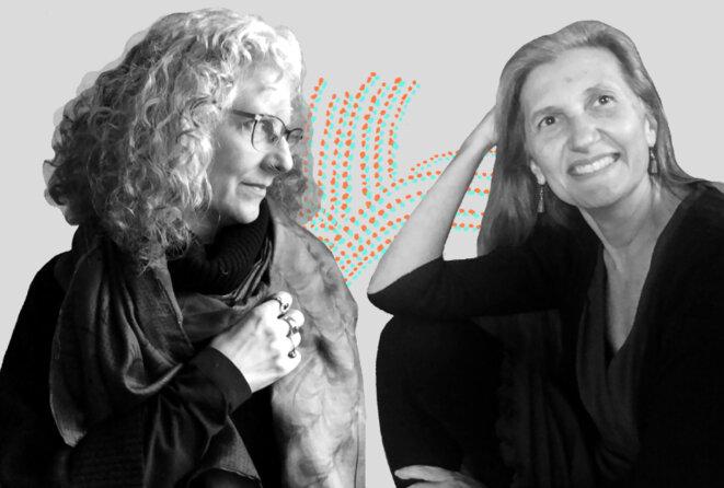 """Portraits de Dora Raymaker et Christina Nicolaidis Comme les esprits : Dora Raymaker et Christina Nicolaidis disent qu'elles """"partagent un cerveau"""". © Photographies de Jessica Chou"""