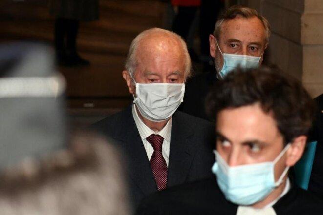 Édouard Balladur à son arrivée à l'audience de la Cour de justice de la République le 19 janvier. © AFP / Alain Jocard