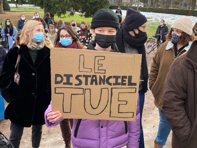 Manifestation en soutien aux étudiant.es/Strasbourg/20-01-21 © Pascal Maillard