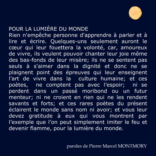 poème de MONTMORY © Pierre Marcel MONTMORY trouveur