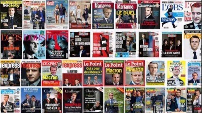 Unes de la grande presse pendant la dernière élection présidentielle en France © X
