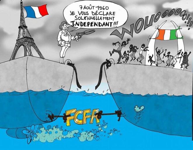 Le dessinateur ivoirien Yapsy est l'auteur de cette caricature, qui date de 2016.