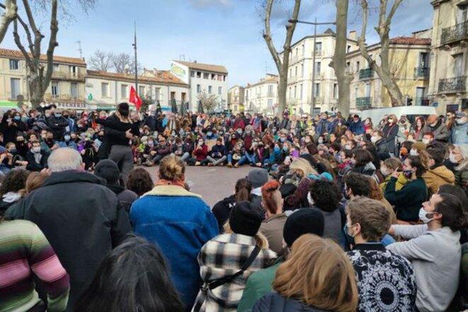 État d'urgence culturel. Montpellier 21/01/2021 © La Carmagnole