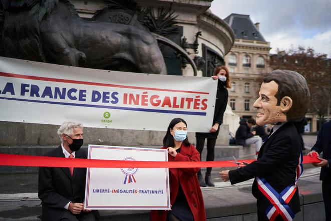 Una manifestación de Oxfam. © Christophe Da Silva