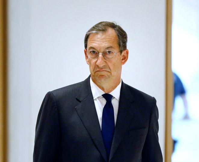 Nicolas Bazire au tribunal judiciaire de Paris, en juin 2020 © AFP