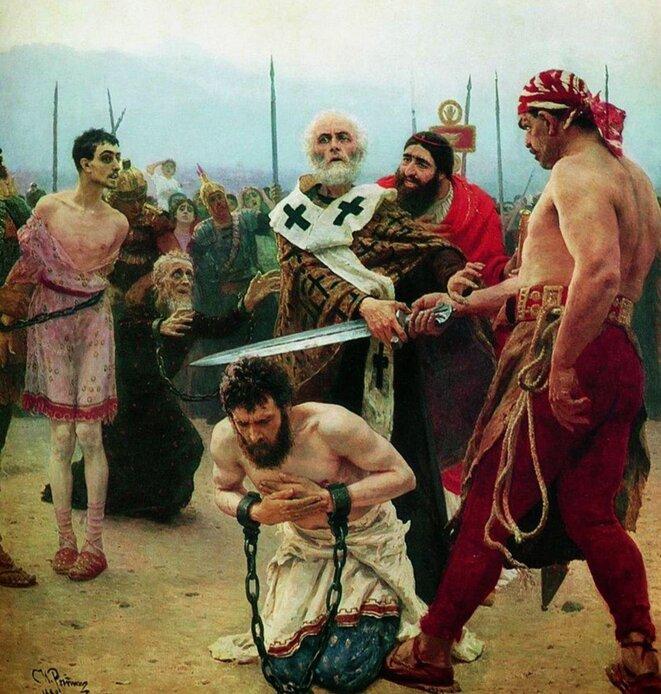 Ilia Répine - Saint-Nicolas arrêtant le bourreau