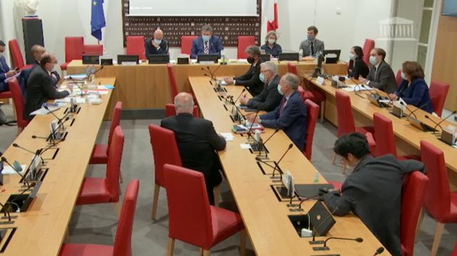 Jean Castex devant la mission d'information de l'Assemblée nationale, en novembre 2020. © Capture d'écran / Assemblée nationale
