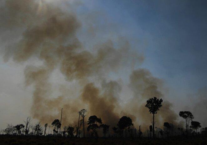 Un feu en Amazonie, en août 2020, dans l'Etat du Para © Carl de Souza / AFP.