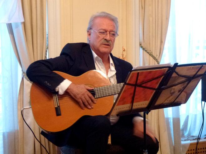 César Isella à l'Ambassade Argentine à Paris © Carlos Schmerkin