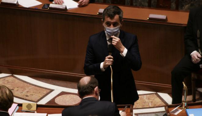 G. Darmanin à l'Assemblée nationale le 26 janvier 2021. © Quentin De Groeve / Hans Lucas via AFP