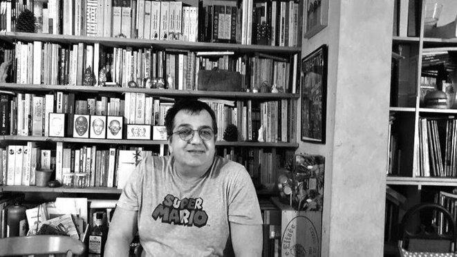 L'historien Jean-Marc Delpech dans son bureau