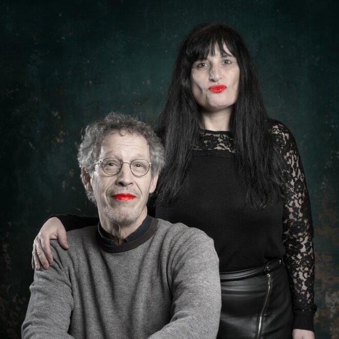 Ana et moi en solidarité avec le peuple portugais © Patrice Forsans, Besançon