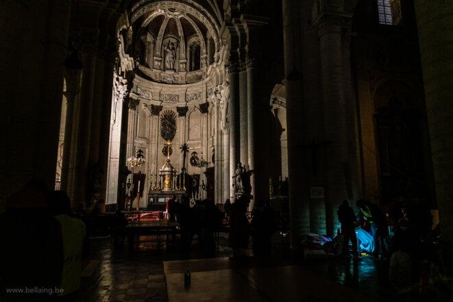 Occupation de l'église du Béguinage,  Bruxelles