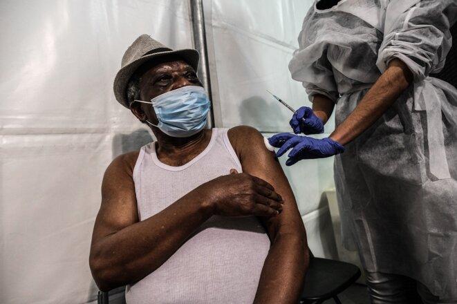 Au centre de vaccination de Gerland. © Antoine Merlet