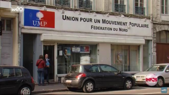 «C'est un temps que les moins de 20 ans ne peuvent pas connaître…» Dans les années 2000, la droite s'appelait «UMP» et avait un siège dans le Nord, sis 216, rue de Solférino, à Lille. © Capture d'écran Wéo