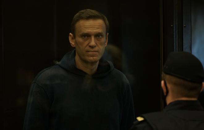 Navalny devant le tribunal de Moscou, le 2 février. © (Tribunal de Moscou)