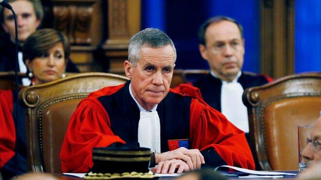 Le procureur général François Molins, alors procureur de la République de Paris, en 2016. © AFP/THOMAS SAMSON