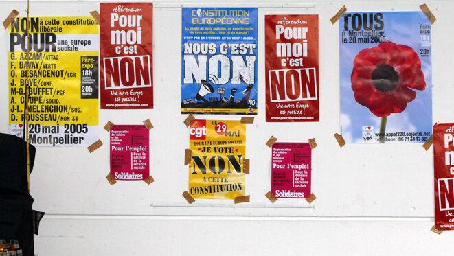 Le 29 mai 2005, les Français disaient non à l'instauration d'une constitution européenne - AFP.