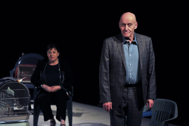 """Berbard Bloch et ses camarades dans une scène de """"La situation"""" © Philippe Delacroix"""