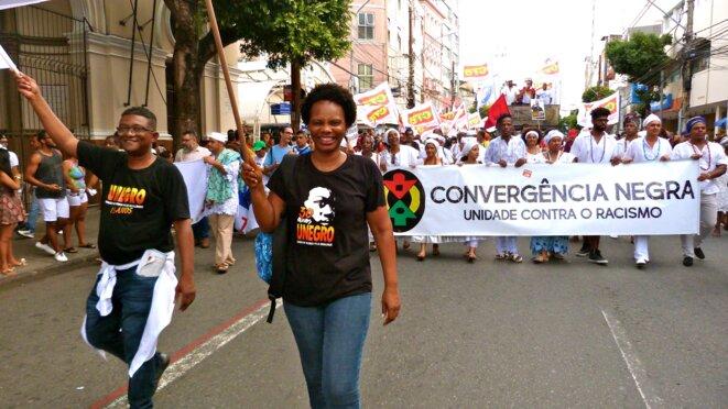 Marche d'ouverture du FSM à Salvador de Bahia (Brésil), 13 mars 2018 © Benjamin Joyeux