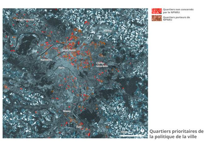 Carte des quartiers prioritaires © fair