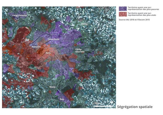 Carte des ségrégations territoriales © fair