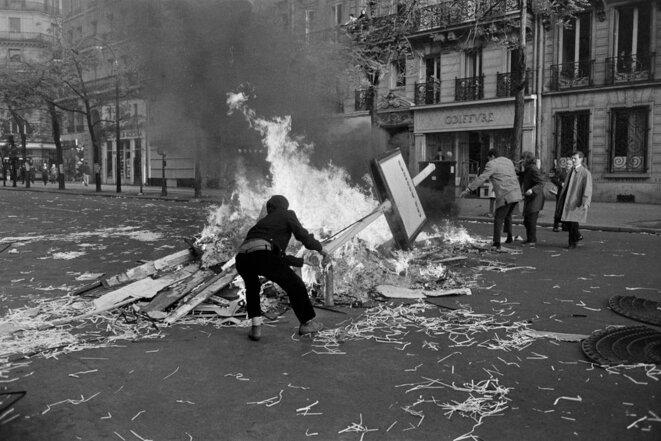 6 mai 1968. Photographie de Claude Champinot. Fonds France-Soir. Bibliothèque historique de la Ville de Paris.
