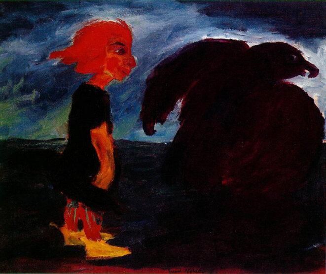 L'enfant et le grand oiseau - 1912 © Emil Nolde