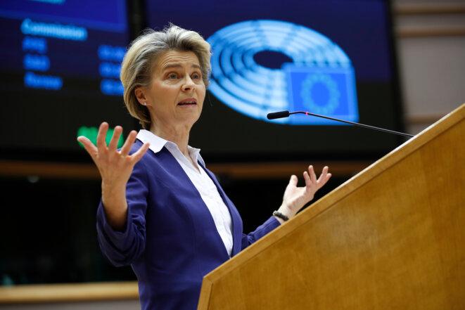 Ursula Van der Leyden, le 20 janvier 2021. © Francisco Seco / POOL / AFP