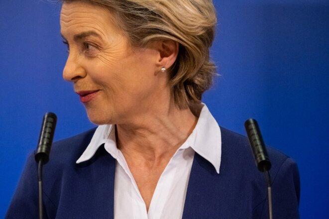 Ursula von der Leyen le 20 janvier 2021 à Bruxelles © Martin Bertrand / Hans Lucas - AFP.