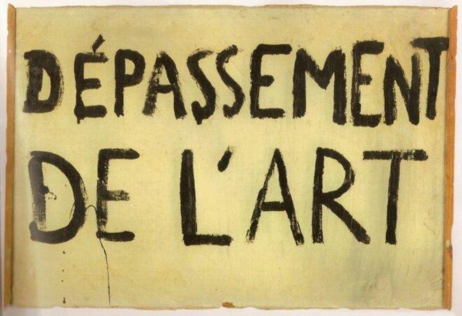 Guy Debord, Dépassement de l'art, directive n°3, 1963.