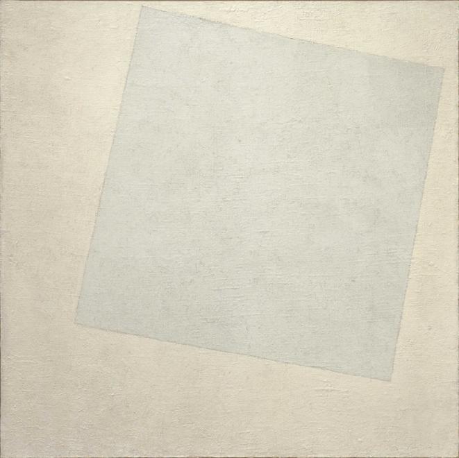 Kasimir Malevitch, Carré blanc sur fond blanc, 1918.