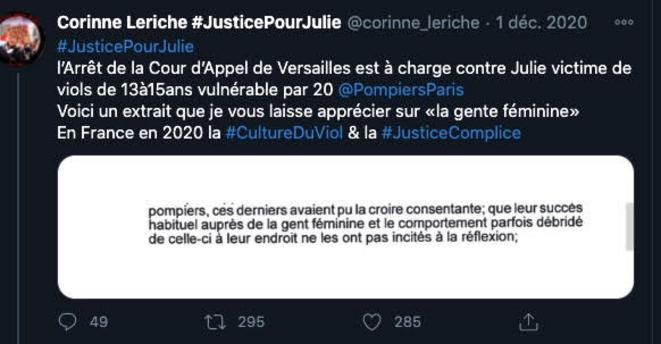 Extrait de l'Arrêt de la Cour d'Appel de Versailles © Corinne Leriche
