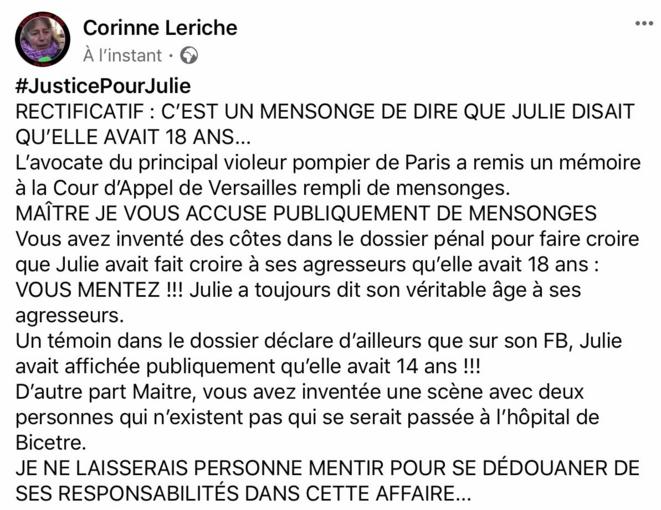 Commentaire de la partie civile concernant le mémoire déposé par la défense © Corinne Leriche