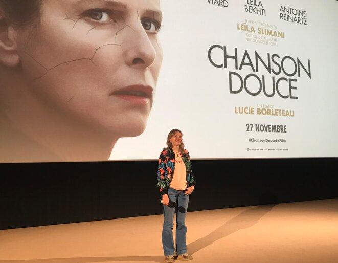 """Lucie Borleteau présentant son film """"Chanson douce"""" [Ph. YF]"""