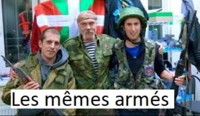 Terroristes basque au Donbass. © Pierre HAFFNER