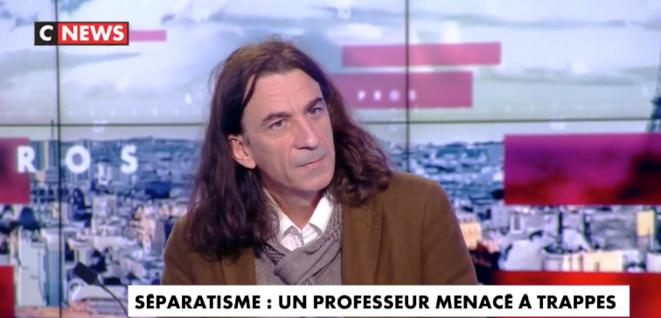 Didier Lemaire sur le plateau de L'Heure des Pros, le 8 février 2021. © Capture d'écran / CNews