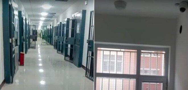 Un tournage secret obtenu par le groupe d'activistes Bitter Winter a montré des cellules avec des bars et des caméras