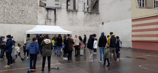 Ouverture de l'école Charles Baudelaire dans le 12ème arrondissement le 23/01/2021 © Pierre Pontecaille