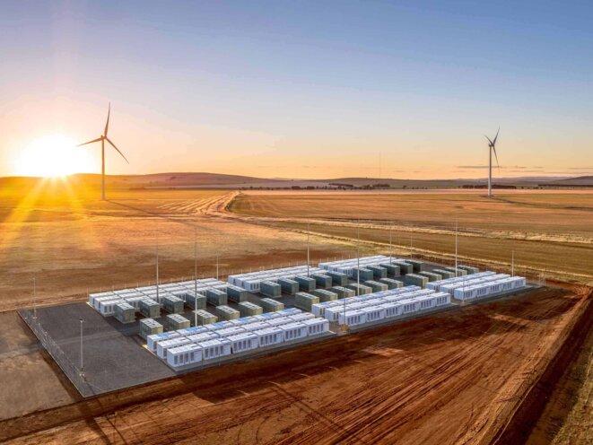 La gigantesque batterie de la Hornsdale Power Reserve, gérée par l'entreprise française Neoen © Hornsdale Power Reserve